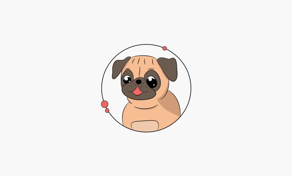 Logo mascotte chien