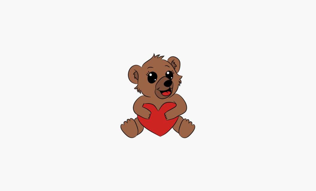 Logo mascotte ourson