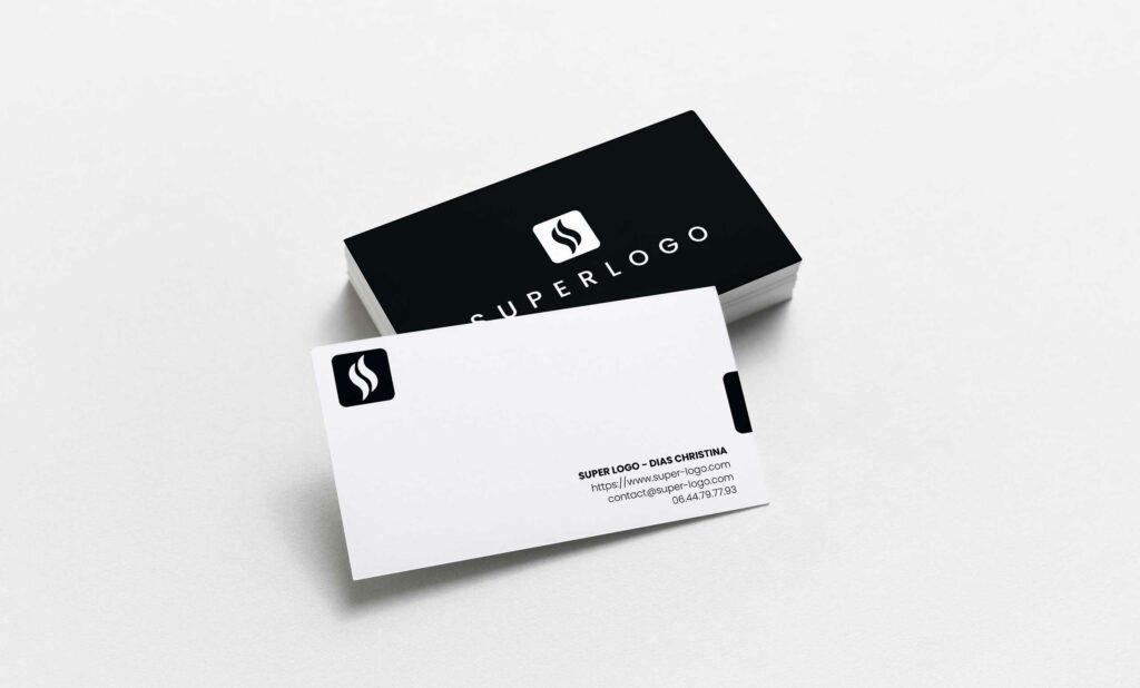 Cartes de visite Super Logo